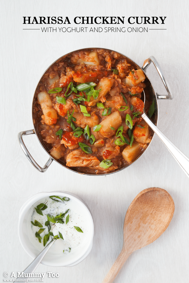 A tasty harissa chicken curry that's full of flavour, and easy to make as it's a one pot meal. Here's how to make it