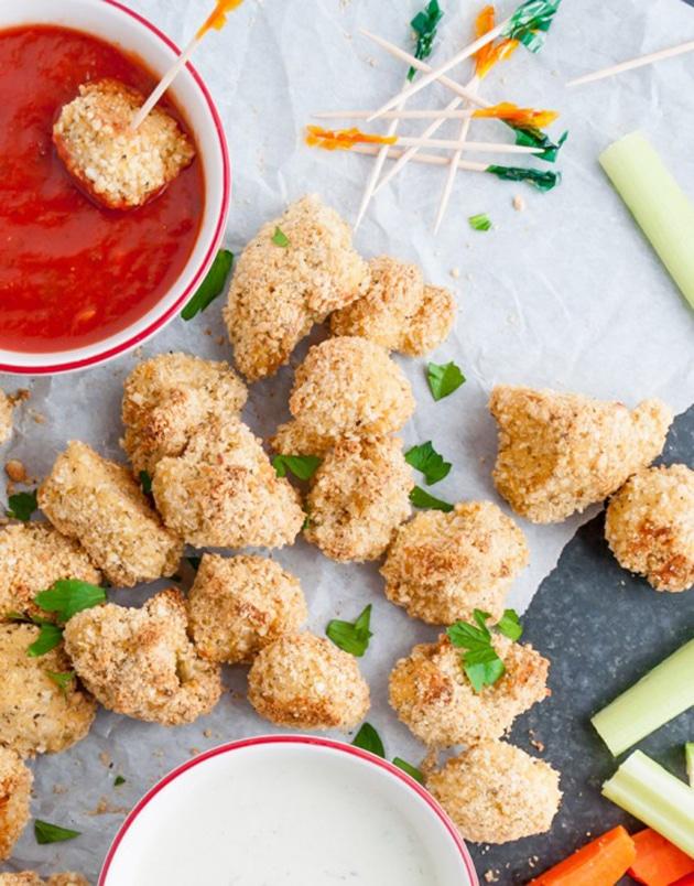 Parmesan Cauliflower Bites