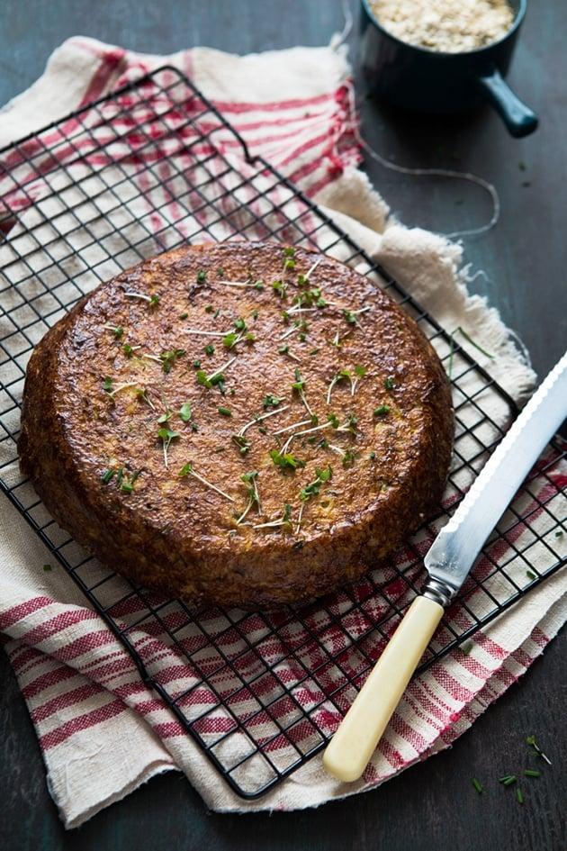 Savoury Cauliflower and Courgette Cake
