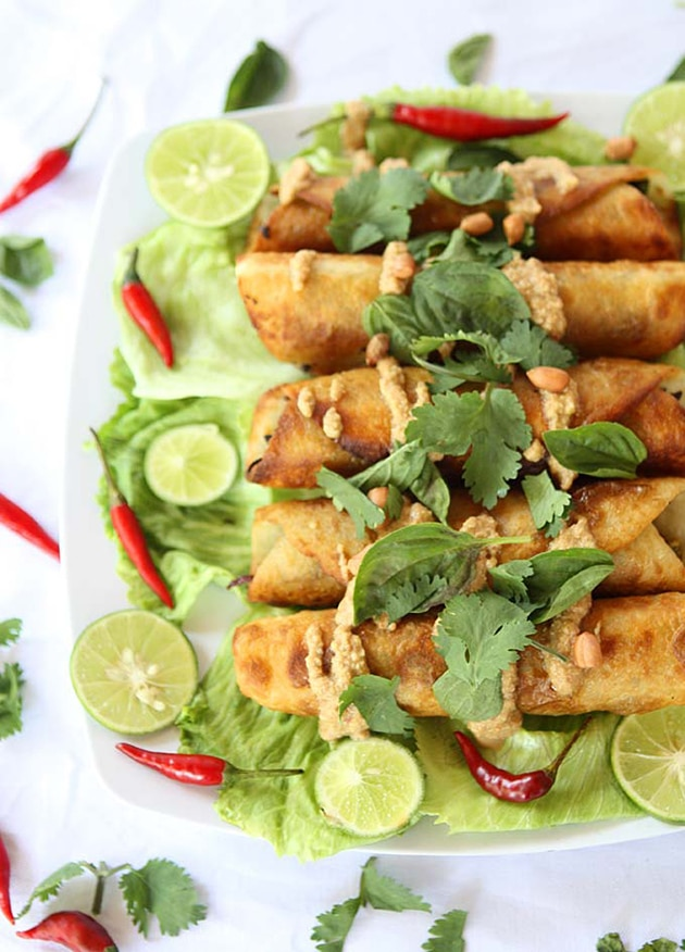 Thai Cauliflower Sweet Potato Flautas
