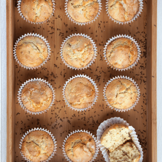 Zesty caraway seed muffins