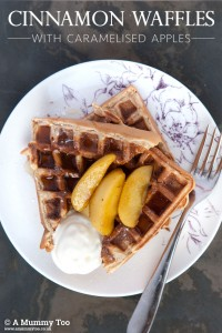 Cinnamon waffles with caramelised apples - A Mummy Too