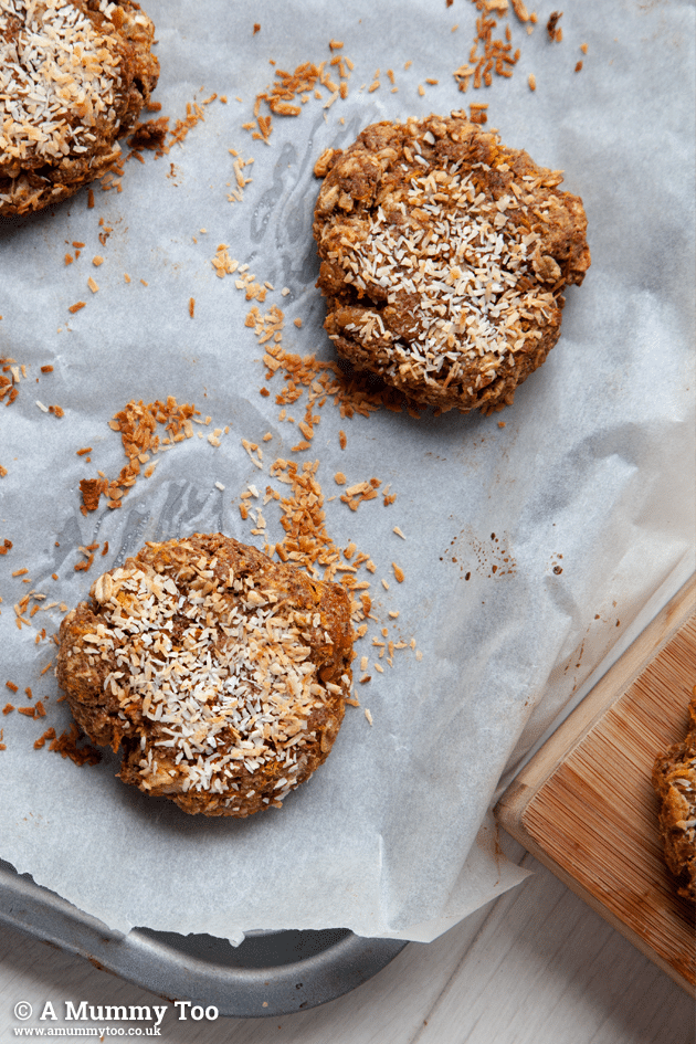 Close up of these delicious jumbo carrot cake breakfast cookies