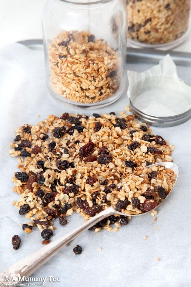Very fruity granola recipe - so easy!
