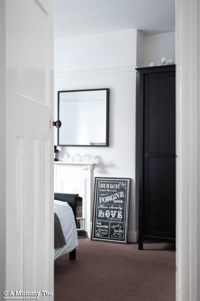 Monochrome master bedroom - a grown up, calm space