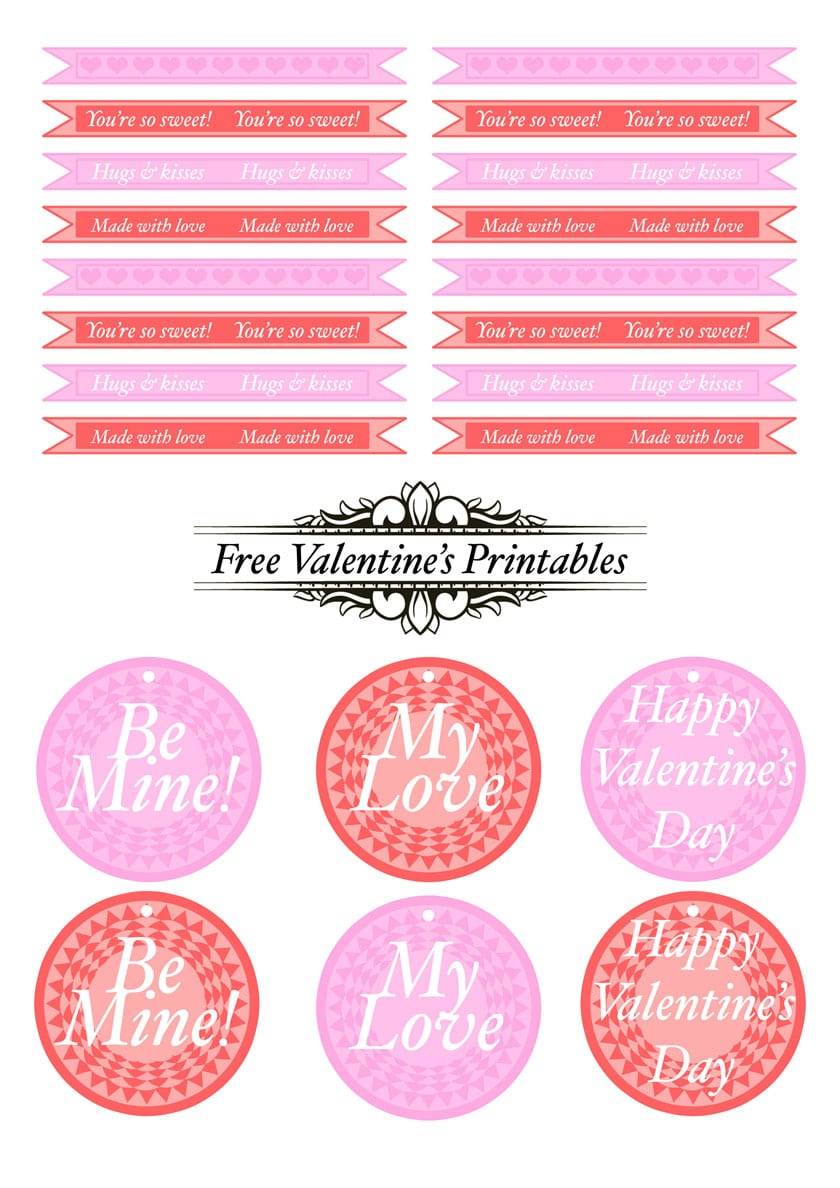 valentine printable cake toppers