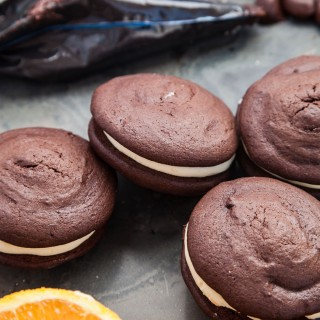 Chocolate orange whoopie pies