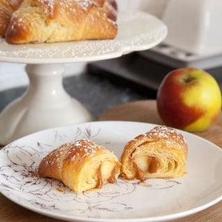 Three ingredient caramel apple croissants