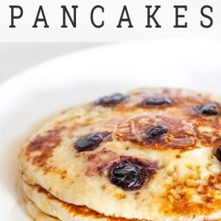 Lemon blueberry pancakes (step by step recipe and video guide)