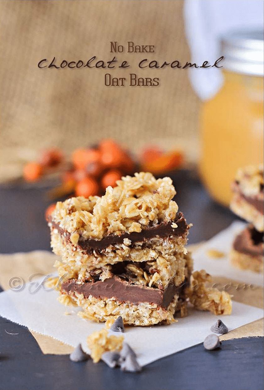no-bake-chocolate-caramel-oat-bars