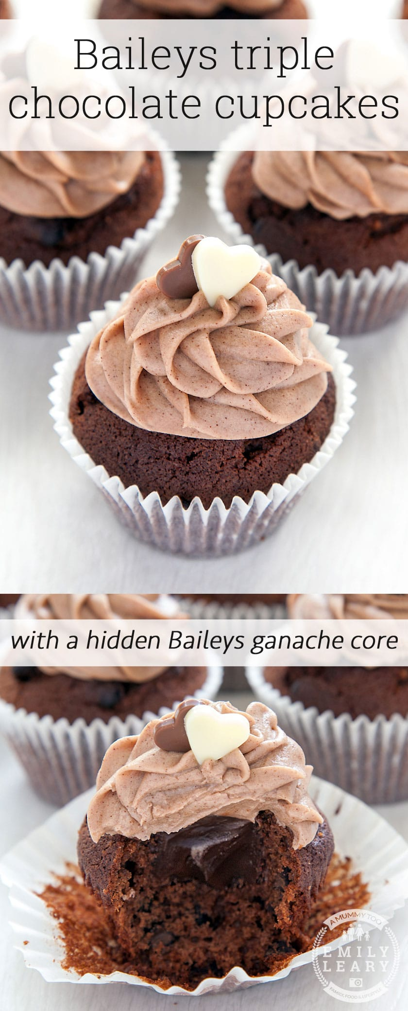 Ultimate Baileys chocolate cupcakes with a surprise inside. Ready to make the ultimate chocolate cupcakes? Here's how