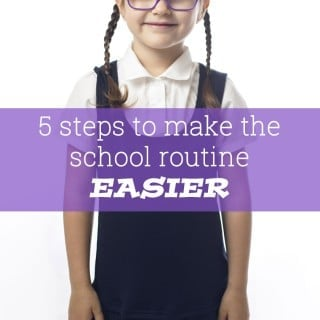 Five ways to make the school routine easier