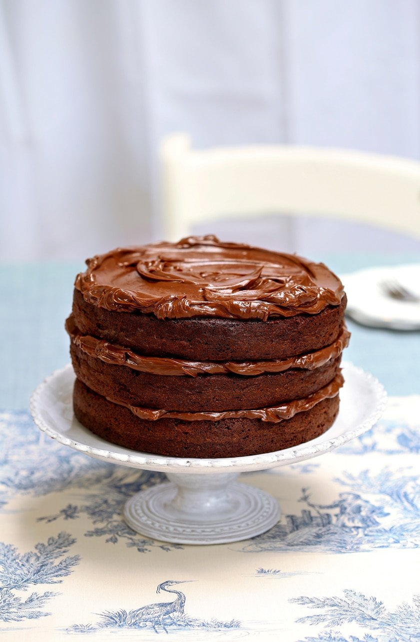 Find out how to make this gorgeous, decadent triple layer chocolate layer fudge cake.