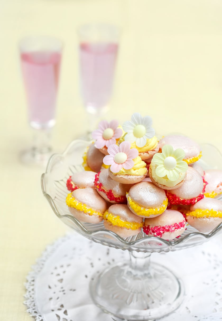 Beautifully bright macaroons. This video explains how easy it can be to make them!