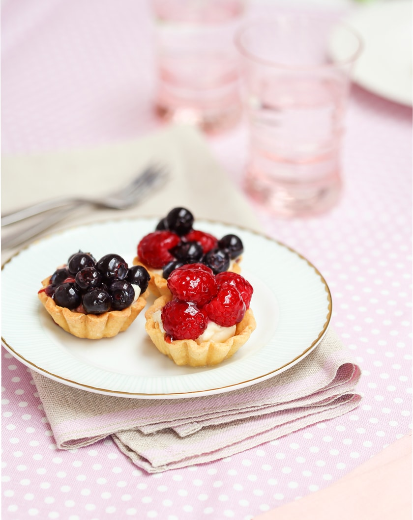 Fabulously fruity little tartlets. So easy and they look like they're straight out of a patisserie!