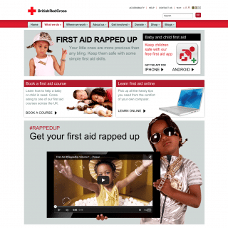 British Red Cross Rapped Up and the Baby and Child First-Aid App