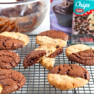 Browkies: decadent brownies and crumbly choc chip cookies in one!