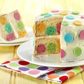 Dotty inside cake – a step by step guide!