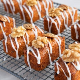 Gluten free nutty carrot cakes