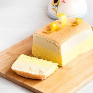 Beautiful layered limoncello cheesecake