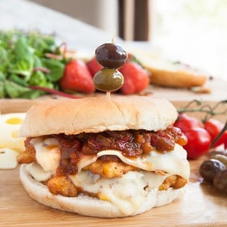 Double-stacked chilli sweetcorn burger