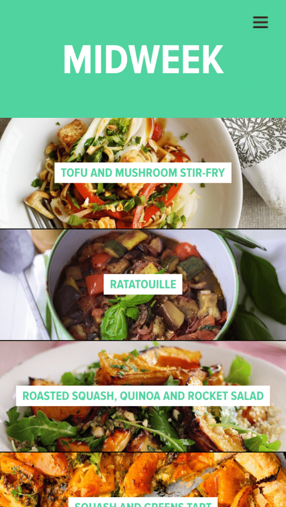 Eating Smart app from woman&home midweek ideas