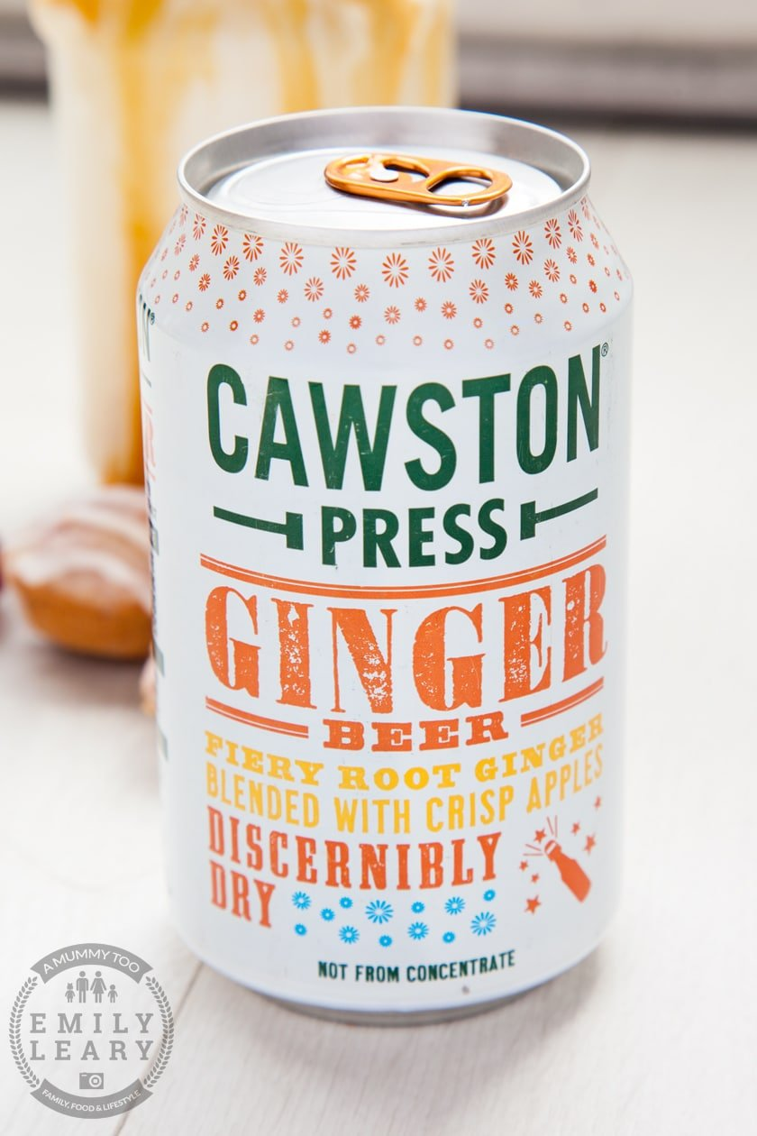 Caswton Press Ginger Beer, a key ingredient in this delicious ginger beer float