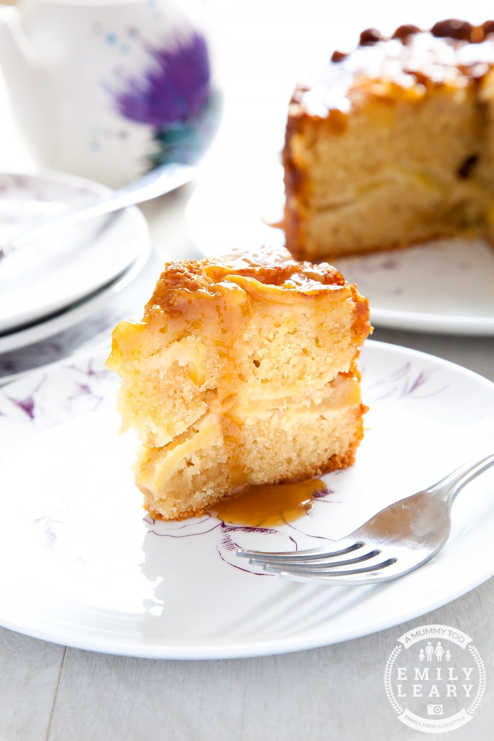 In the mood for something sweet with apples? This toffee apple cake is moist and delicious. Serve it hot with ice cream or cold with custard.