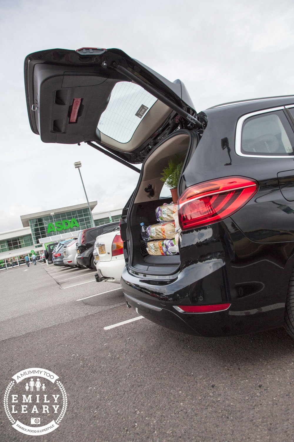 BMW 2 Series Gran Tourer at supermarket