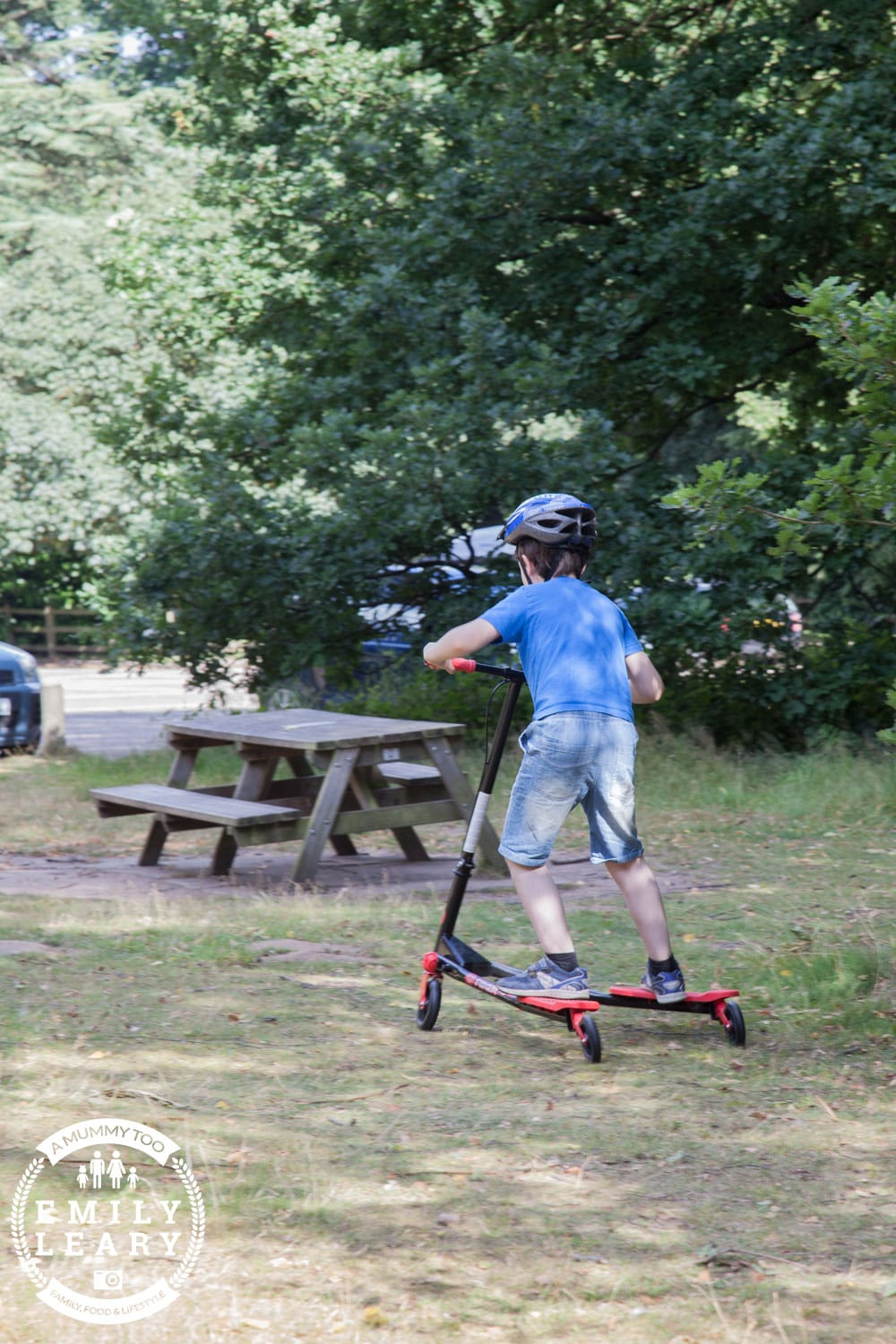 JD on scooter at Clumber Park