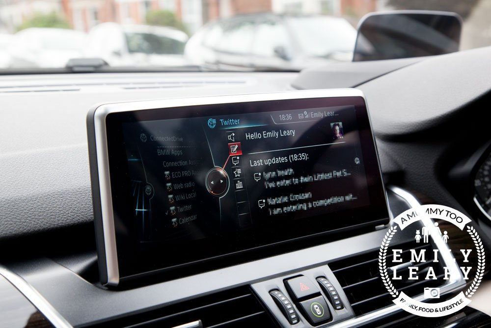 Using Twitter in the BMW 2 Series Gran Tourer