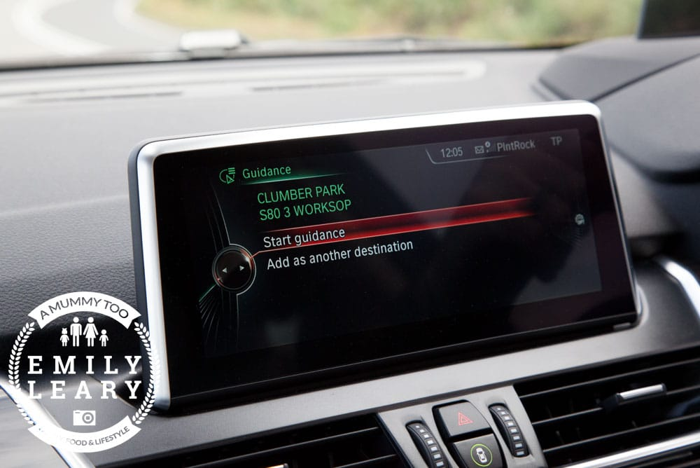 BMW 2 Series Gran Tourer GPS planning a new route