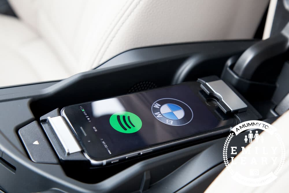 Docking phone in snap-in adapter to use Spotify BMW 2 Series Gran Tourer