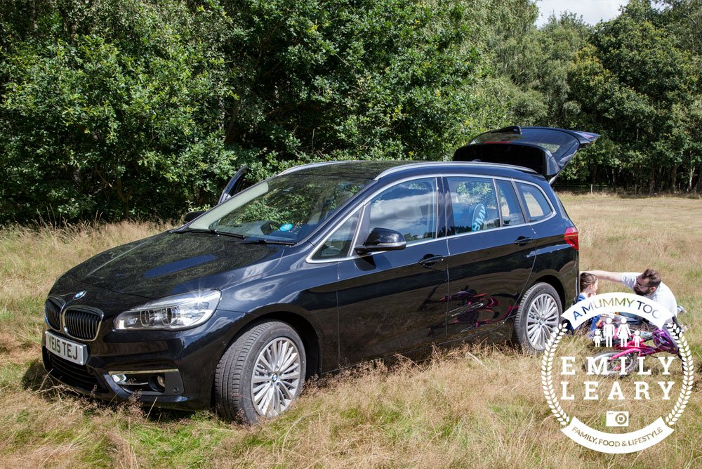BMW 2 Series Gran Tourer from the side while we have our picnic