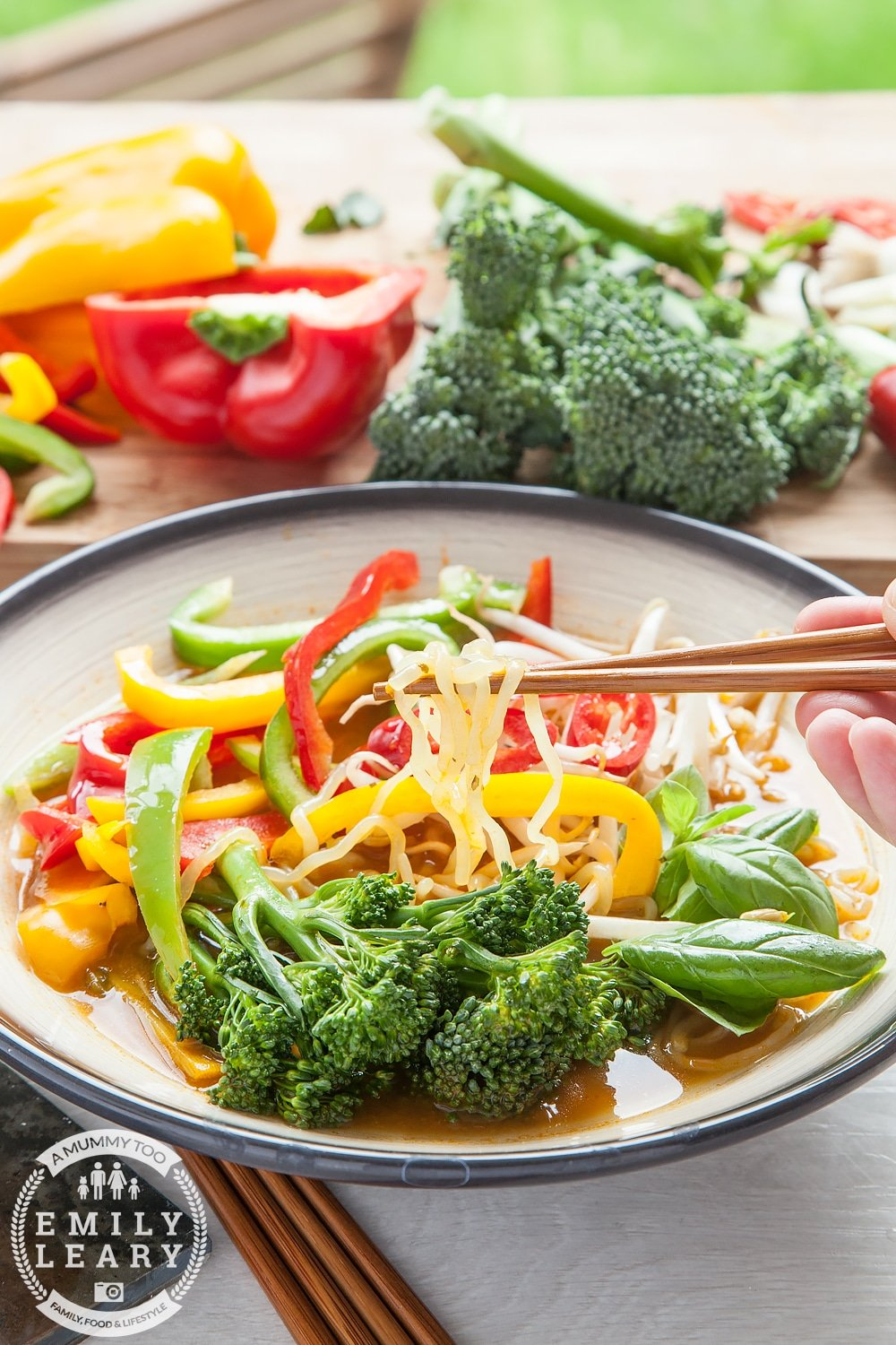 Ultra low calorie, veg packed thai noodle soup - made with Slimfast noodles