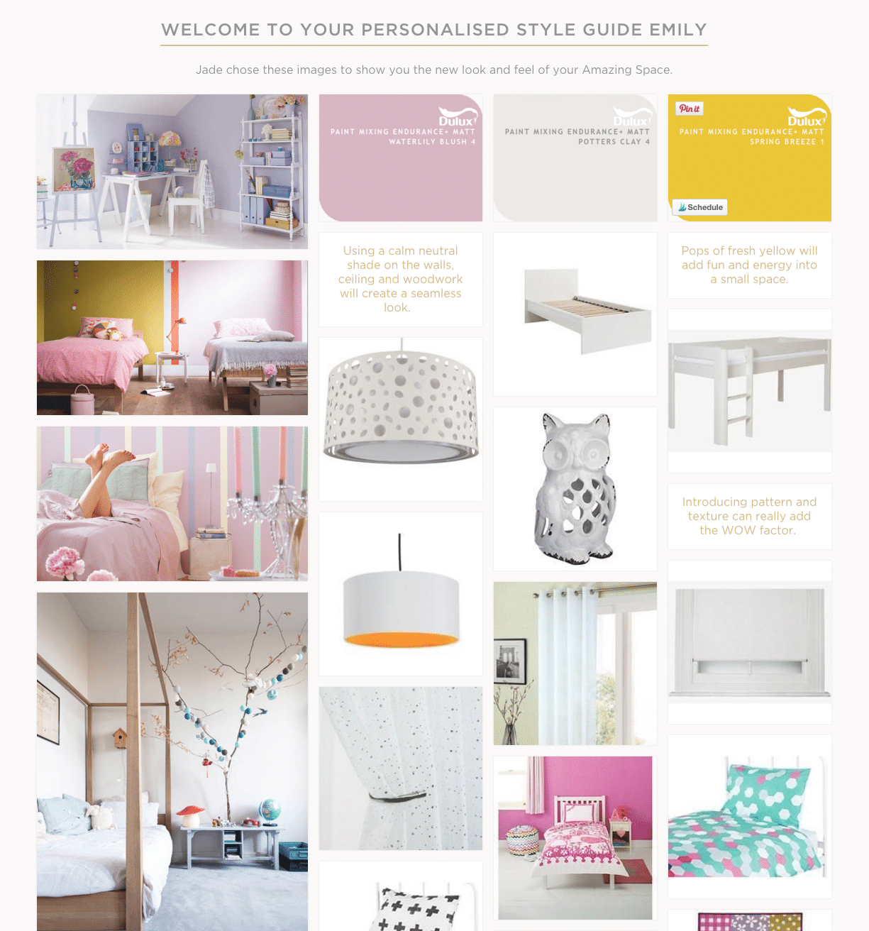 Bedroom - Personalised style guide