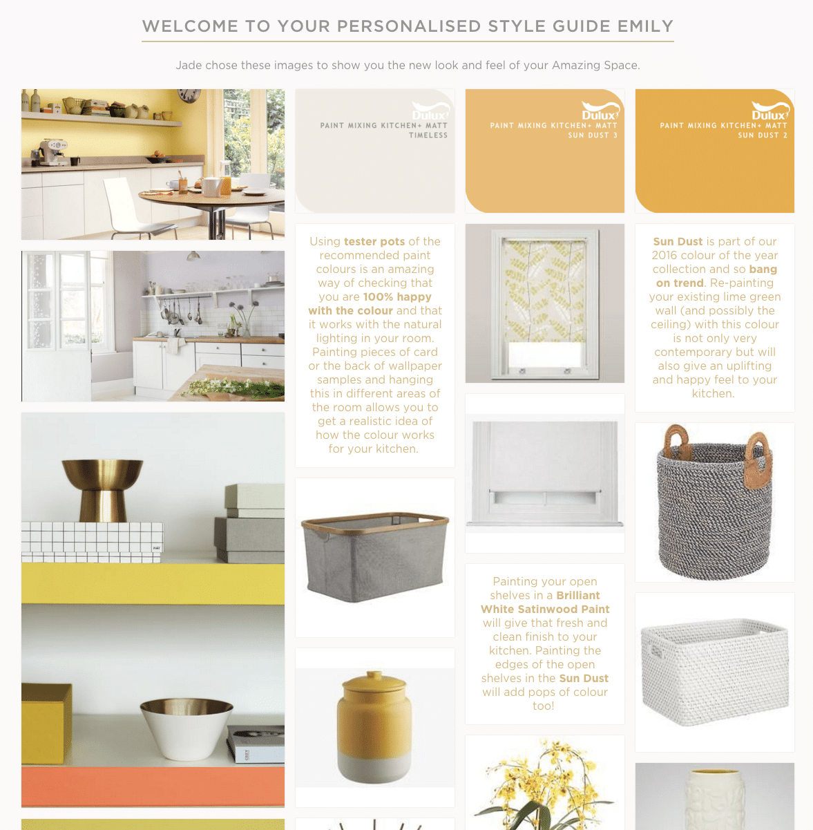 Kitchen - Personalised style guide