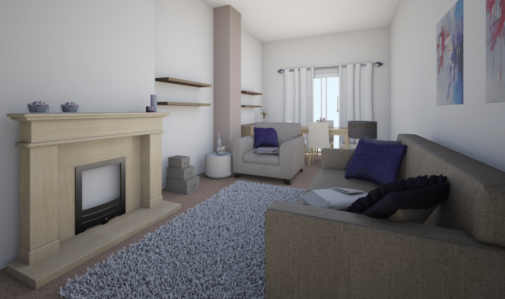 Living room - 3D view