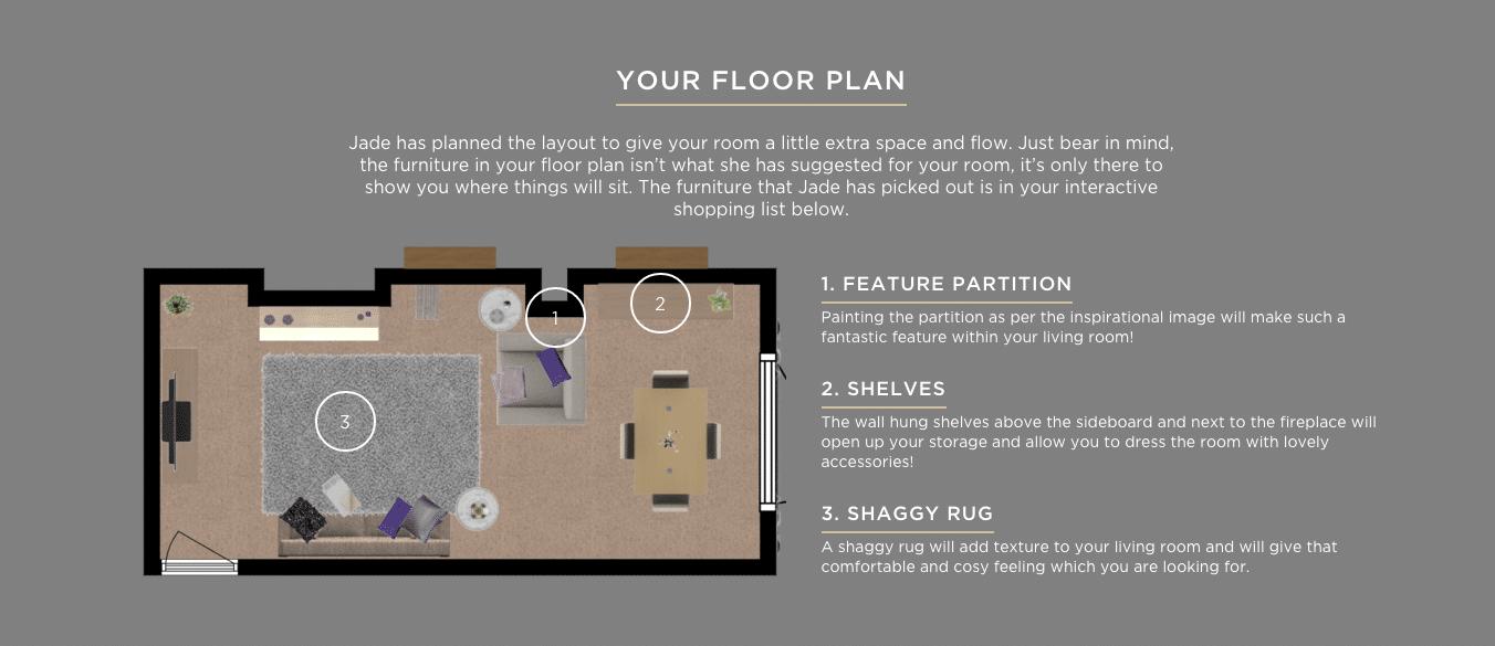 Living room - Floor plan