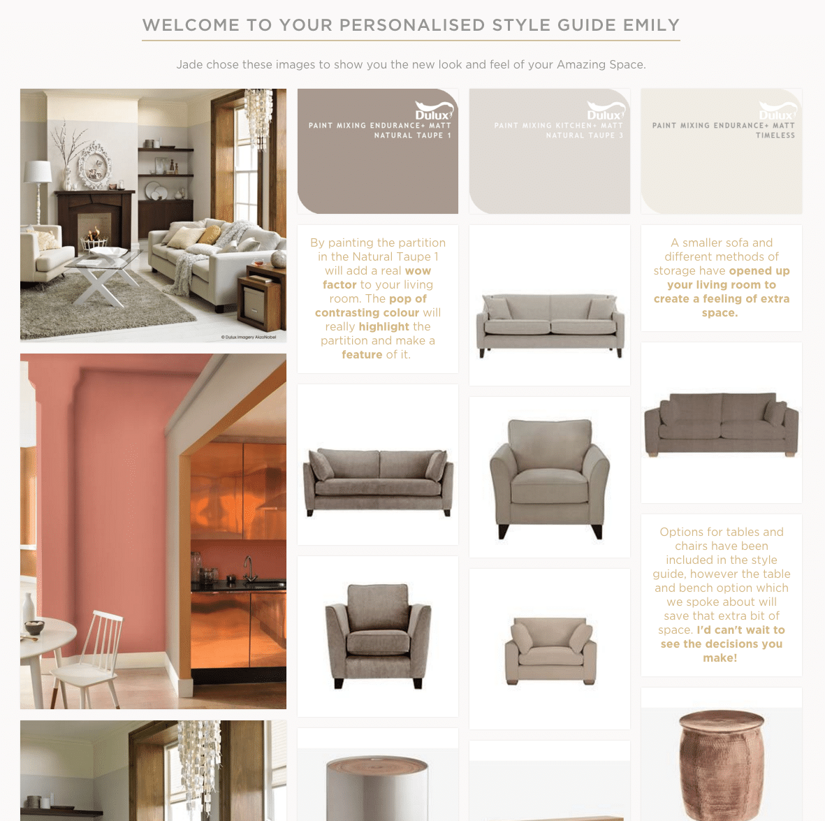 Living room - Personalised style guide