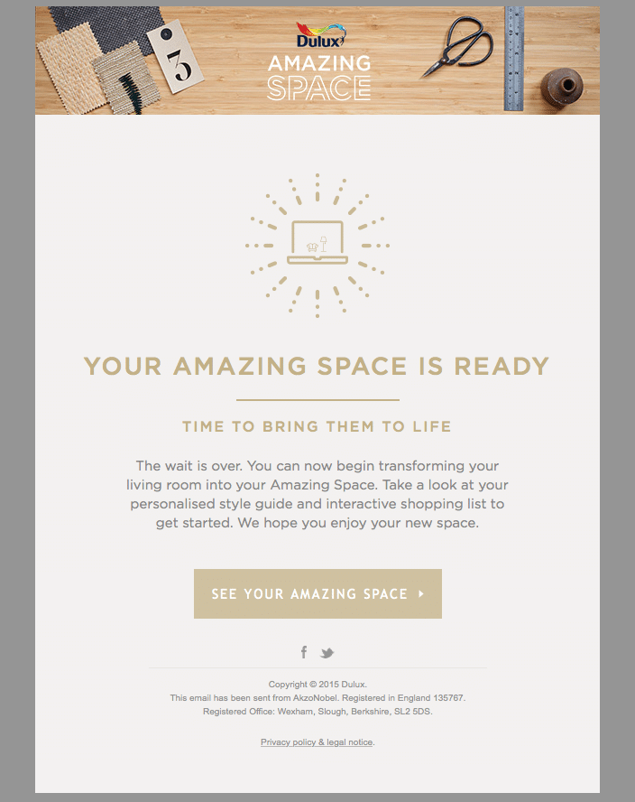 Your Amazing Space is ready