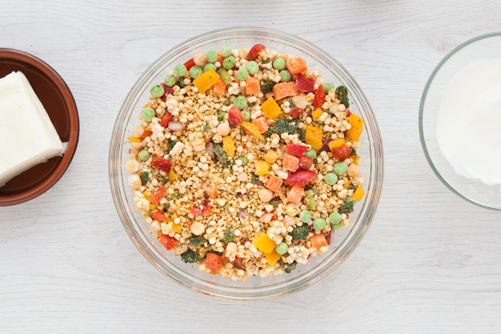 Frozen couscous with vegetables