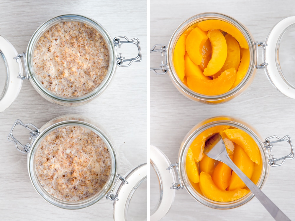 Top your breakfast pots with fruit the next morning