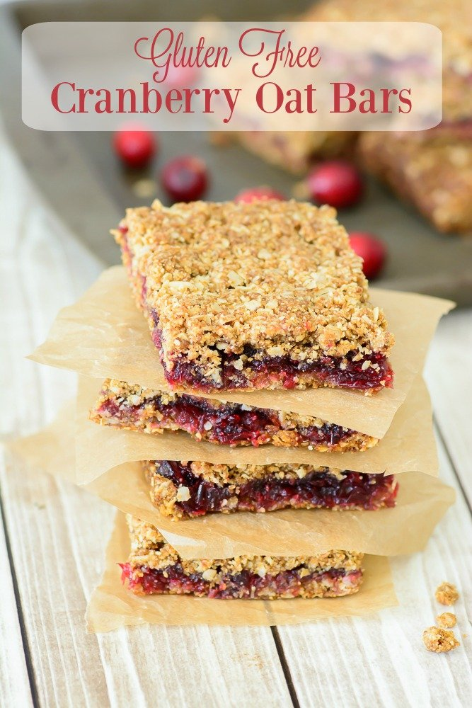 gluten free cranberry oat bars by almost supermom