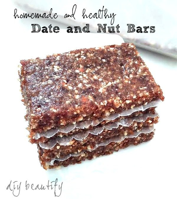 homemade date and nut bars by diy beautify