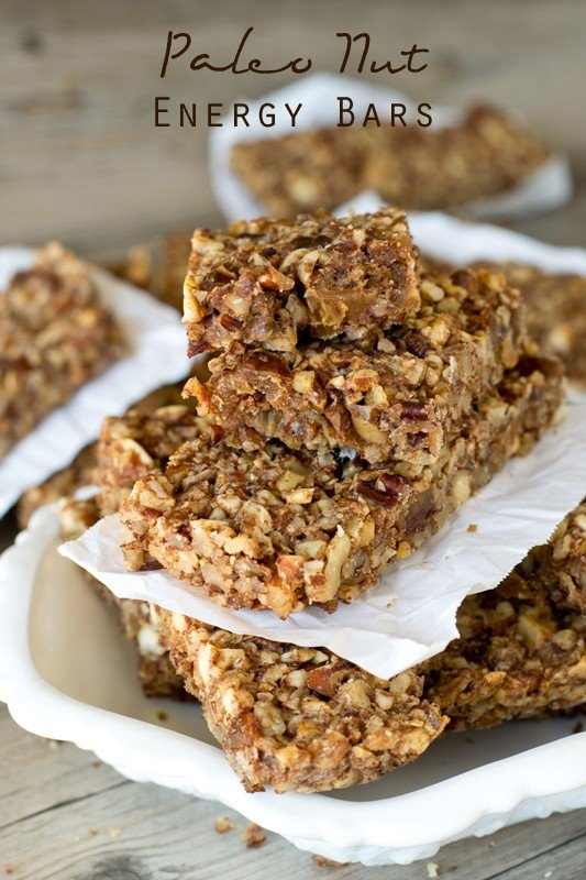 paleo nut energy bars by tastes of lizzy t's