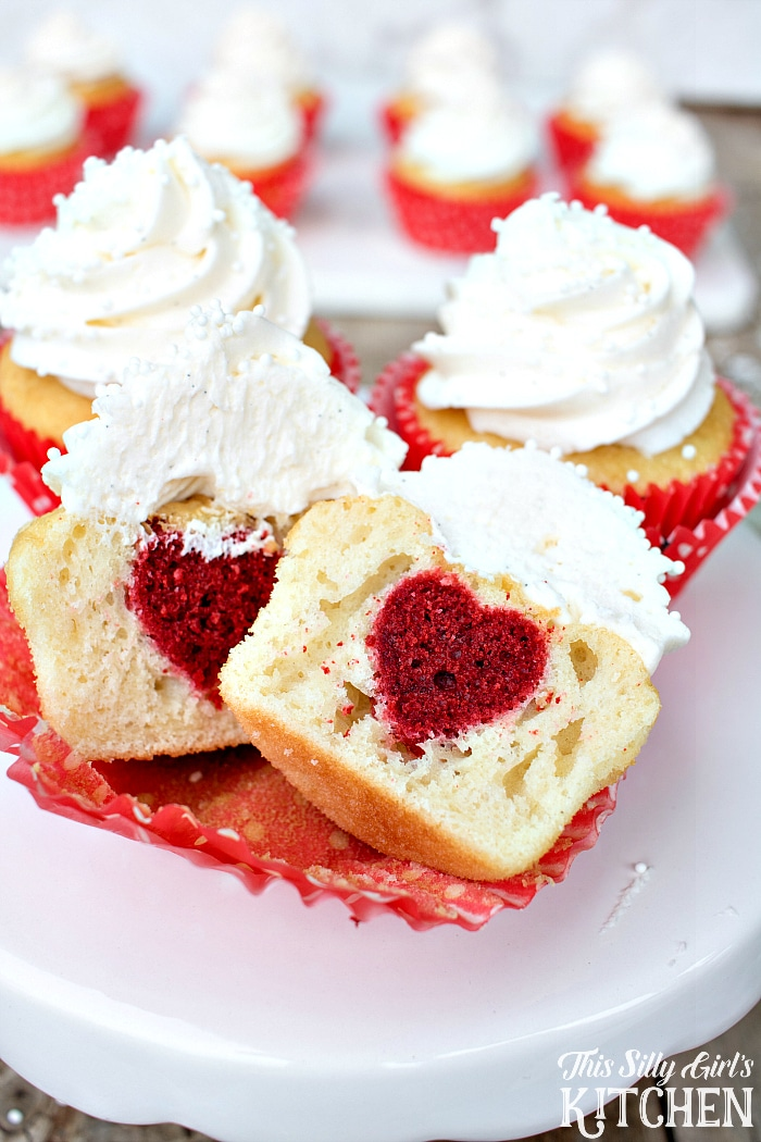 surprise inside heart cupcakes by this silly girl's kitchen