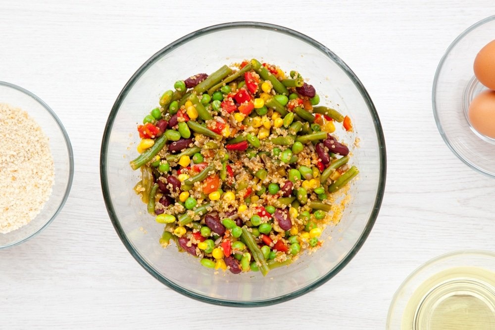 Cooked zesty bean quinoa
