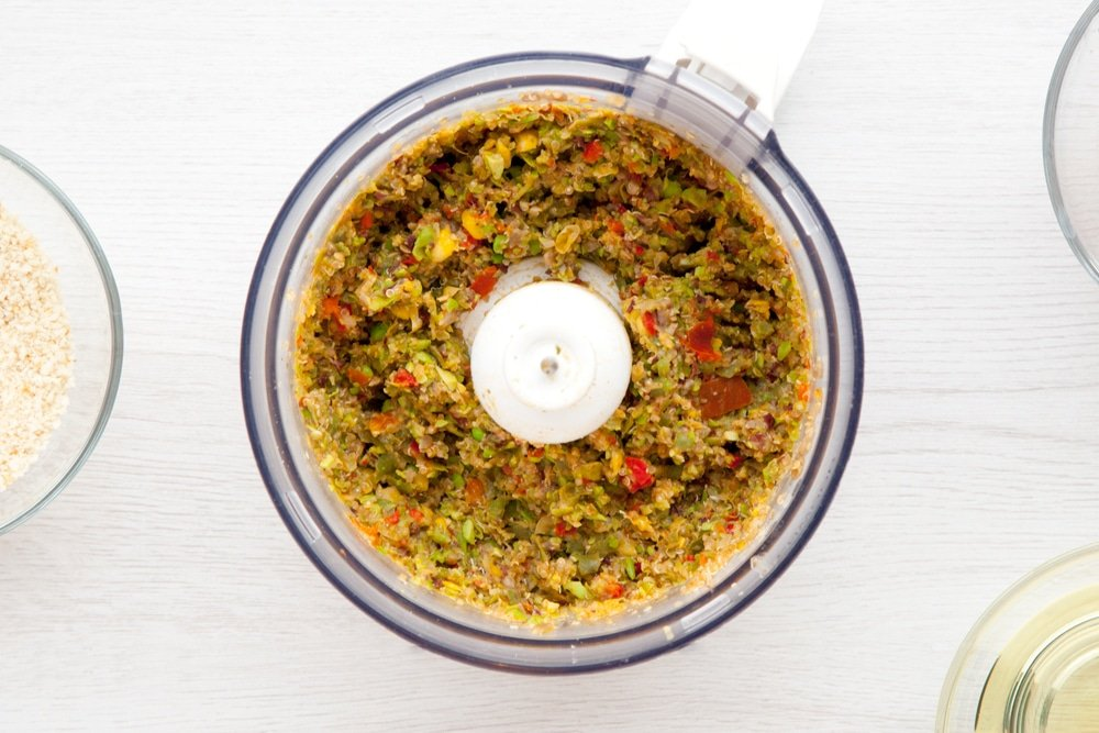 Pulse the quinoa mix in a food processor