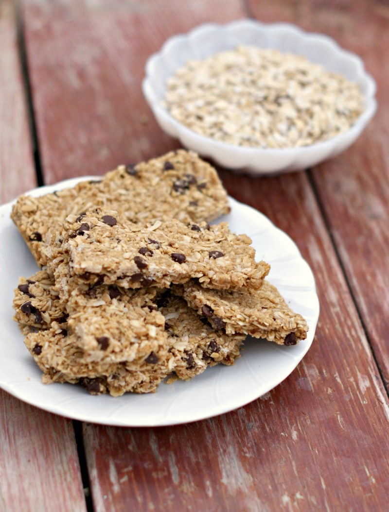 peanut butter granola bars by clever pink pirate